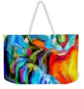 Flaming Blue And Orange Kitty Cat Tiger Resting Gently From The Prowl Weekender Tote Bag