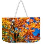 Flaming Maple - Paint Weekender Tote Bag