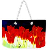 Flaming Red Tulips Weekender Tote Bag