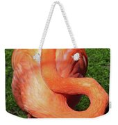 Flamingo Asleep Weekender Tote Bag