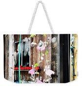 Flamingo Cabin Weekender Tote Bag