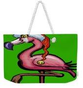 Flamingo Christmas Weekender Tote Bag