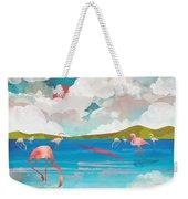 Flamingo Dream Weekender Tote Bag