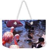 Flamingo Family  Weekender Tote Bag