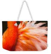 Flamingo Fluff Weekender Tote Bag