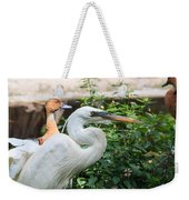 Flamingo Gardens - Great Egret Profile Weekender Tote Bag