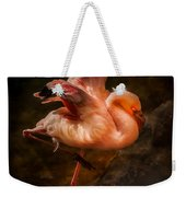 Flamingo In Darkness Weekender Tote Bag