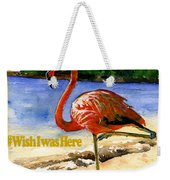 Flamingo In Florida Shirt Weekender Tote Bag