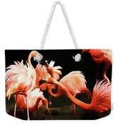 Flamingo Kisses Weekender Tote Bag