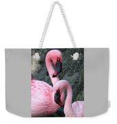 Flamingo Love Birds Weekender Tote Bag
