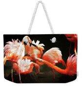 Flamingo Mingles Weekender Tote Bag