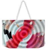 Flamingo On Ripple Water Weekender Tote Bag