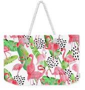 Flamingo Paradise Weekender Tote Bag