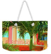 Flamingo Plaza Weekender Tote Bag