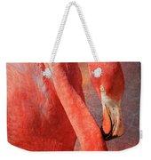 Flamingo Portrait Weekender Tote Bag