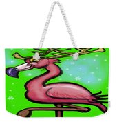 Flamingo Reindeer Weekender Tote Bag