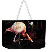 Flamingo Scratching Head Weekender Tote Bag