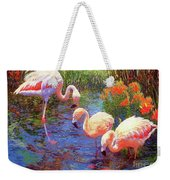 Flamingo Tangerine Dream Weekender Tote Bag