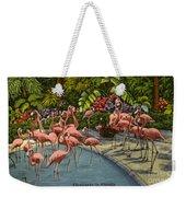Flamingos Vintage Postcard Weekender Tote Bag