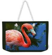 Flamingo Wading In Pond Weekender Tote Bag