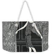 Flapper Opening A Curtain Weekender Tote Bag