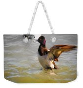Flapping Lesser Scaup Weekender Tote Bag