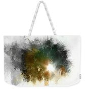 Flared Textured Palm Weekender Tote Bag