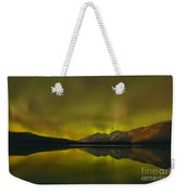 Flaring Northern Lights Weekender Tote Bag