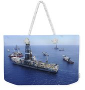 Flaring Operations Conducted Weekender Tote Bag by Stocktrek Images