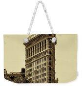 Flatiron Building In Sepia Weekender Tote Bag