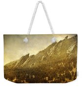Flatiron Views  Boulder Colorado Weekender Tote Bag