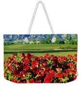 210546-v-flatirons And Flowers V  Weekender Tote Bag