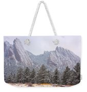 Flatirons From The South Boulder Colorado Weekender Tote Bag