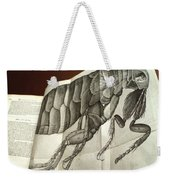 Flea From Robert Hookes Micrographia Weekender Tote Bag