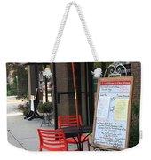 Flemington, Nj - Sidewalk Cafe Weekender Tote Bag