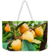 Fleshy Yellow Plums On The Branch Weekender Tote Bag