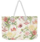 Fleurs De Pivoine - Watercolor In A French Vintage Wallpaper Style Weekender Tote Bag