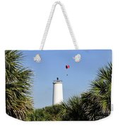 Flight Over Egmont Key Weekender Tote Bag