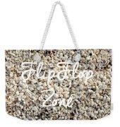 Flip Flop Zone Seashell Background Weekender Tote Bag