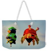 Floating Aerial Photographer And The Smiling Crab Weekender Tote Bag