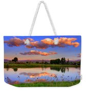 Floating Clouds And Reflections Weekender Tote Bag