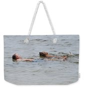Floating In The Sea Weekender Tote Bag