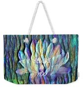 Floating Lotus - I Believe In You Weekender Tote Bag