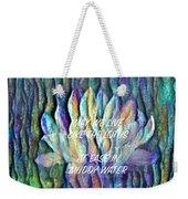 Floating Lotus - May We Live Like The Lotus Weekender Tote Bag