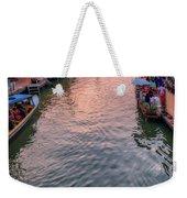 Floating Market Sunset Weekender Tote Bag