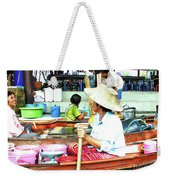 Floating Market Thailand Weekender Tote Bag