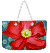 Floating Poppy Weekender Tote Bag