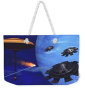 Floating Space City Weekender Tote Bag by Corey Ford