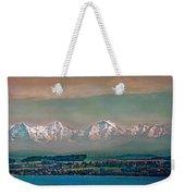 Floating Swiss Alps Weekender Tote Bag