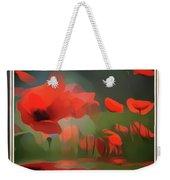 Floating Wild Red Poppies Weekender Tote Bag